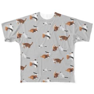 ナナポンファイト(グレー) Full graphic T-shirts