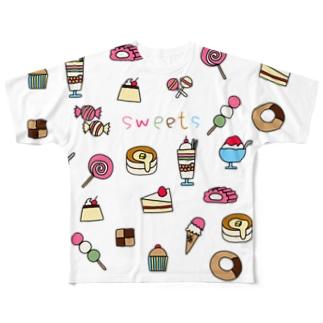 sweets-お菓子イラスト Full graphic T-shirts
