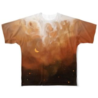 夜空とアイスコーヒー Full graphic T-shirts