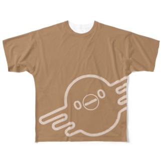 地上餌 Full graphic T-shirts