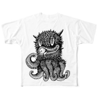タコモンスター Full graphic T-shirts