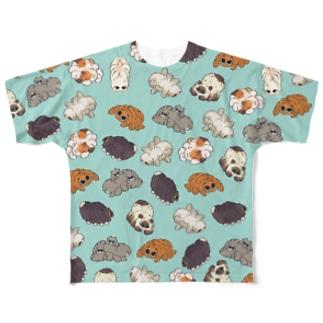 クモネコまみれ Full Graphic T-Shirt