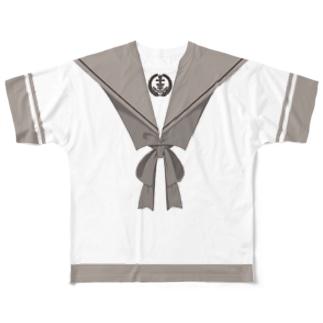 落ち着いた制服T Full graphic T-shirts