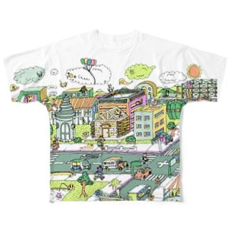ポッピーな街 Full graphic T-shirts