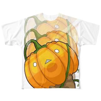 ズルズルかぼちゃ Full graphic T-shirts