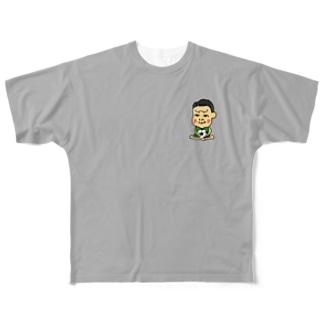 ライトグレー-3 Full graphic T-shirts