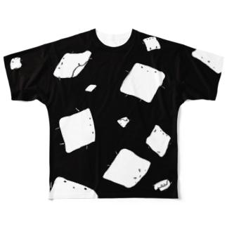 全面あぶらあげちゃん Full graphic T-shirts