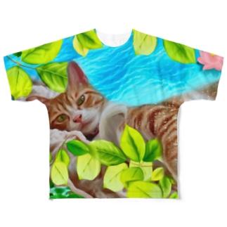 バニラ君Tシャツ Full graphic T-shirts