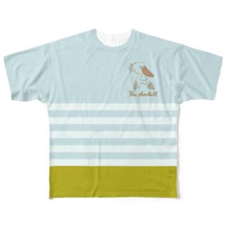 ハシビロとシマシマ Full graphic T-shirts
