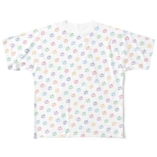 カラフルドットフーニャン_フルグラ Full graphic T-shirts