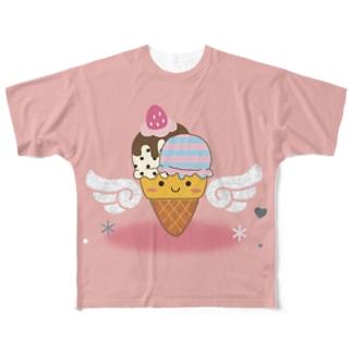 フォトジェニックなアイスクリームfull Full graphic T-shirts