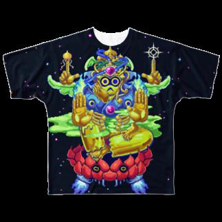 STUDIO TOKOYOの如意輪観音 Full graphic T-shirts