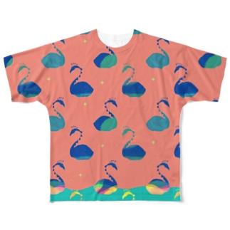 とりどり・ピンク Full graphic T-shirts