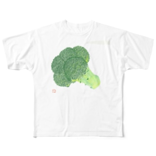 Michiru Kitchenのブロッコリー Full graphic T-shirts