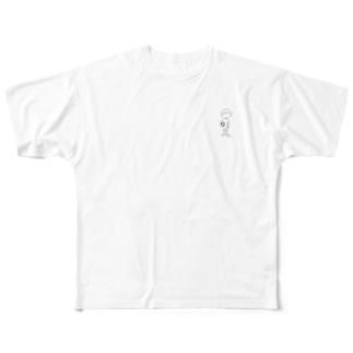 サッカーボールと少年(x) Full graphic T-shirts