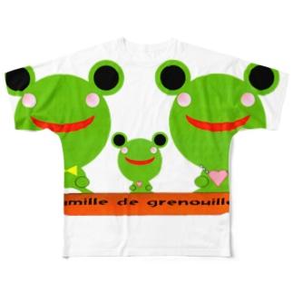 Famille de grenouilles Full graphic T-shirts