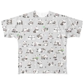 水彩パンダ(グレー) Full Graphic T-Shirt