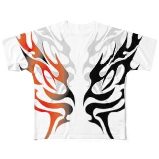 舞・炎 Full graphic T-shirts
