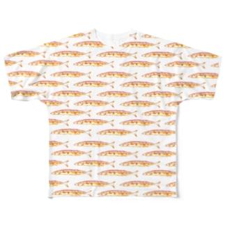 焼き魚orange Full graphic T-shirts