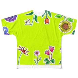 NIPPONのお花たち Full graphic T-shirts
