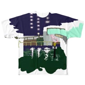 夜道(フル) Full graphic T-shirts