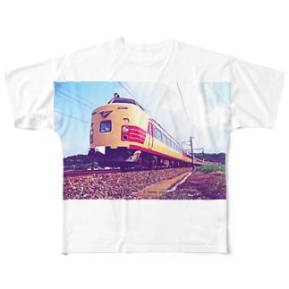 電車雷鳥 Train mania Full graphic T-shirts