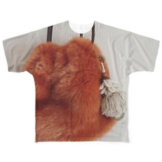 秋冬へのふわふわ Full graphic T-shirts