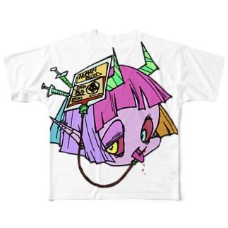 悪魔になりたい吸血鬼くん Full graphic T-shirts