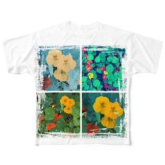 ナスタチウムたちのつぶやき Full graphic T-shirts