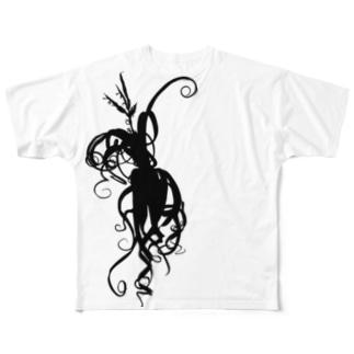 カーリースリム Full graphic T-shirts