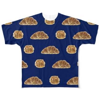 クロワッサンとパンオショコラ 夜のTシャツ Full graphic T-shirts