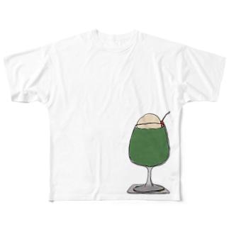 メロンフロート Full graphic T-shirts