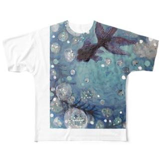 水沫遊び Full graphic T-shirts