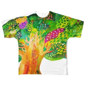 生命宿るりんごの木 Full graphic T-shirts