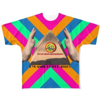 地球の神秘 Series「PYRAMID POWER 1000%」 Full graphic T-shirts