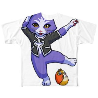 カゥルとコロユキ、KCズのポーズ Full graphic T-shirts