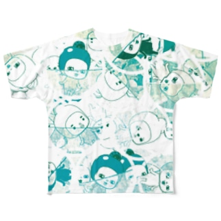 ここ☆味方ゾーン Full graphic T-shirts