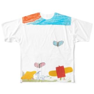 コッコおとうさんの家族 Full graphic T-shirts
