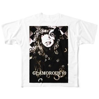 THE WORLD OF SPIRITS BURST / Glam girl Full graphic T-shirts