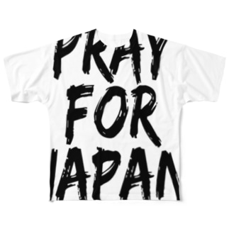 PRAY FOR JAPAN Full graphic T-shirts