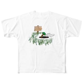 ブロッコリーゆでとく? Full graphic T-shirts