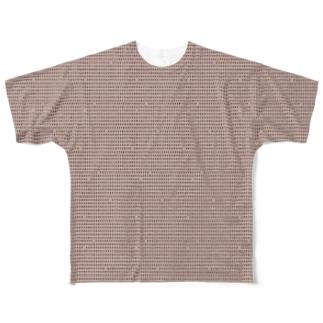お豆さん絞り 珈琲豆絞り Full graphic T-shirts
