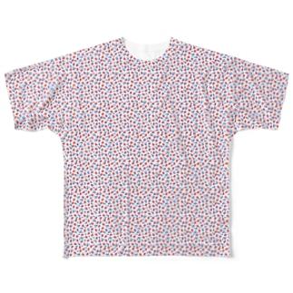 波に蛸 Full graphic T-shirts