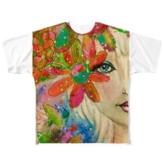 未来の中の瞳 Eye into the future  Full graphic T-shirts