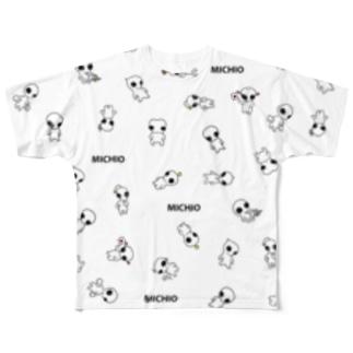 宇宙人みちお Full graphic T-shirts