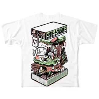 カメントツ×ジェリージェリーカフェ Full graphic T-shirts
