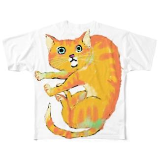 おちょぴ フルグラフィックTシャツ