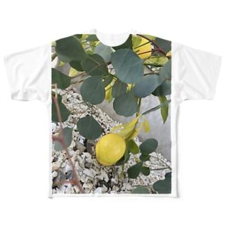金運レモンと癒しのユーカリᙏ̤̫⑅* Full graphic T-shirts