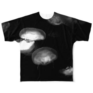 白黒海月 Full graphic T-shirts