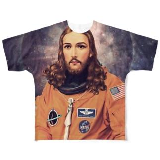 宇宙飛行士 Full graphic T-shirts